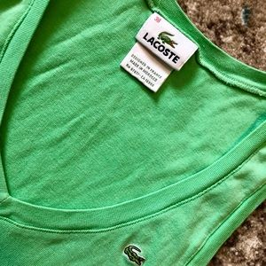 Lacoste green top